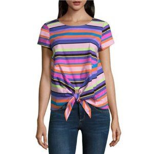 Project Runway multi colored striped shirt large